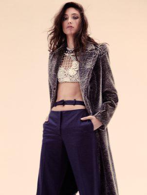 Coat and trousers, MAISON MARTIN MARGIELA | Top, BALMAIN