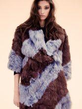 Fur coat and top, DOLCE & GABBANA