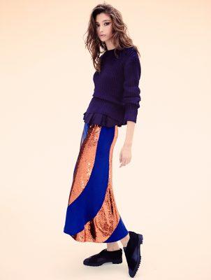 Sweater, top and skirt, DRIES VAN NOTEN | Shoes, PROENZA SCHOULER