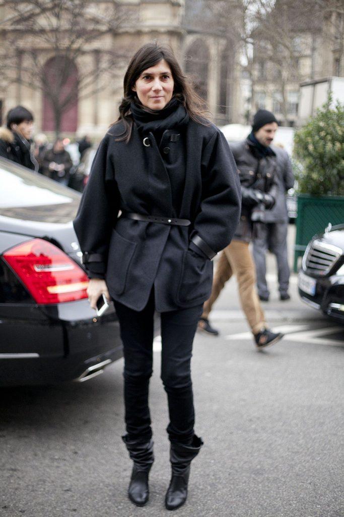 Emmanuelle Alt attending Paris Fashion Week Autumn/Winter 2014