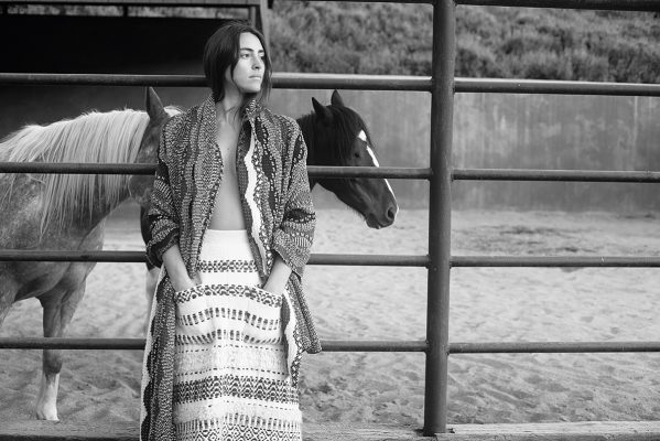 Multi-coloured wool pullover and multi-coloured alpaca skirt, CHANEL