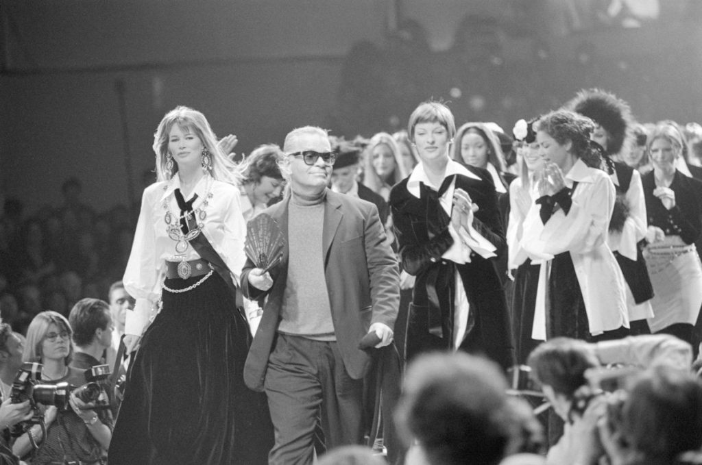 Karl Lagerfeld with the 90s Supers