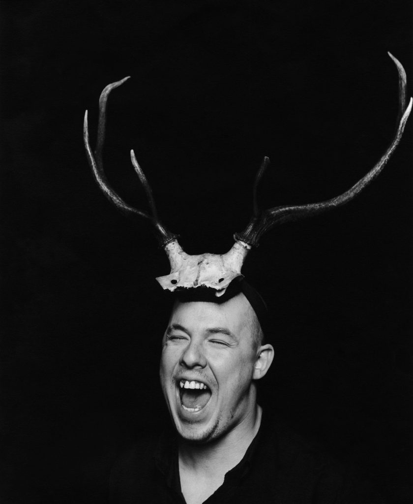 Portrait of Alexander McQueen in 1997, photographed by Marc Hom/Trunk Archive