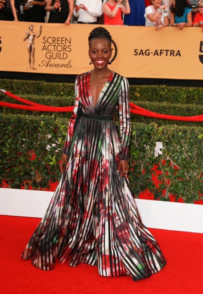 Lupita Nyong'o at the 21st Annual Screen Actors Guild Awards 2015. Photography by P.Michele/Retna Ltd./Corbis