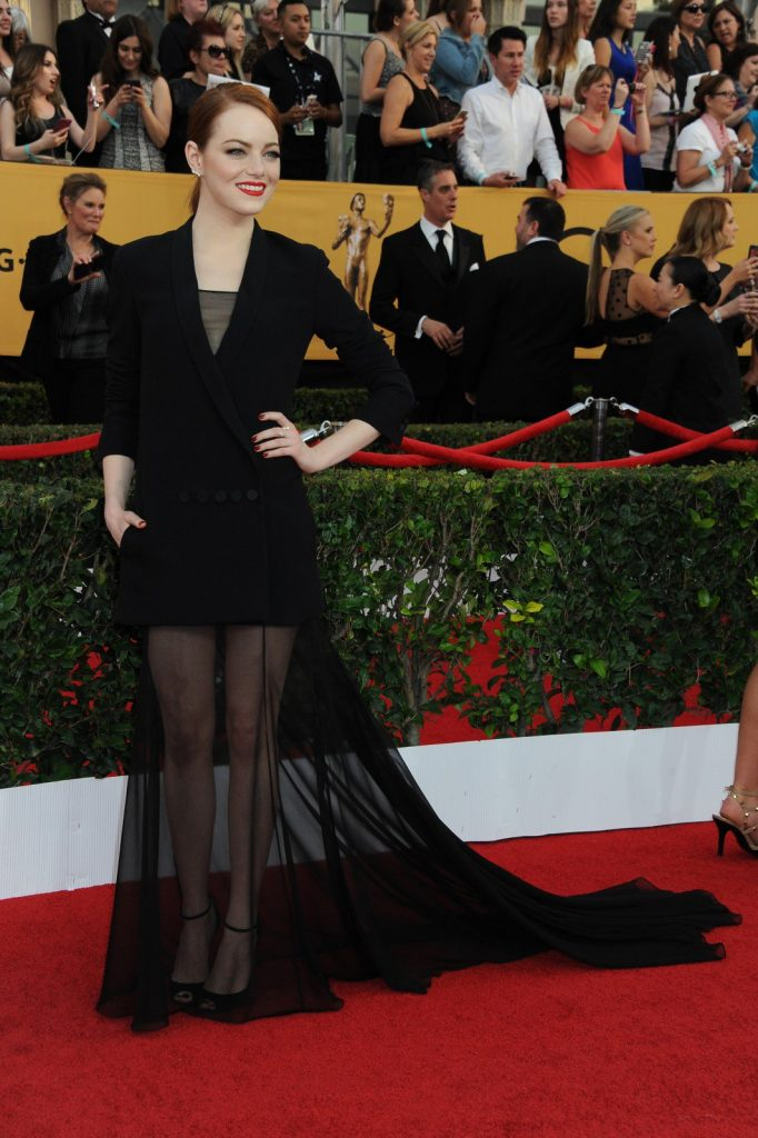 Emma Stone at the 21st Annual Screen Actors Guild Awards 2015. Photography by Katy Winn/Corbis