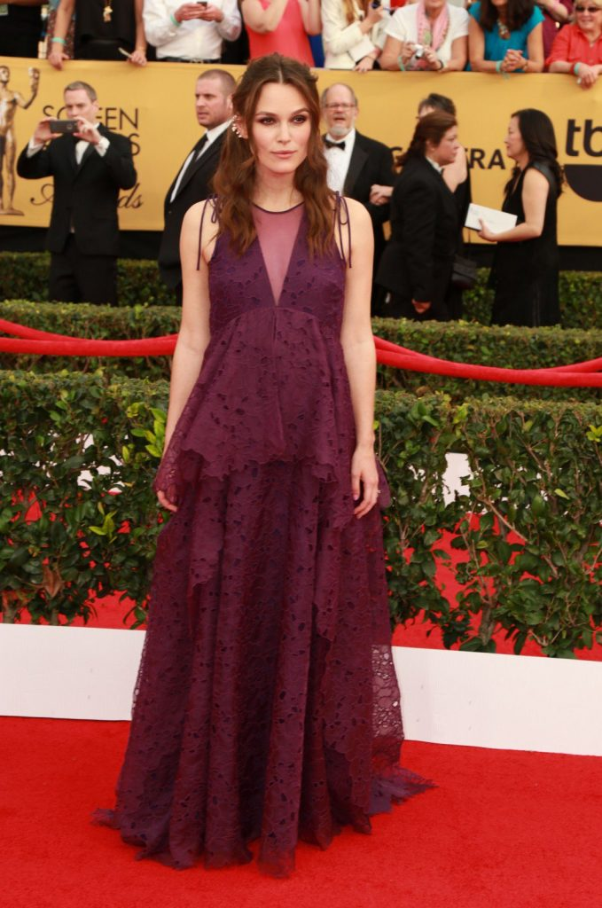 Keira Knightley at the 21st Annual Screen Actors Guild Awards 2015. Photography by P.Michele/Retna Ltd./Corbis