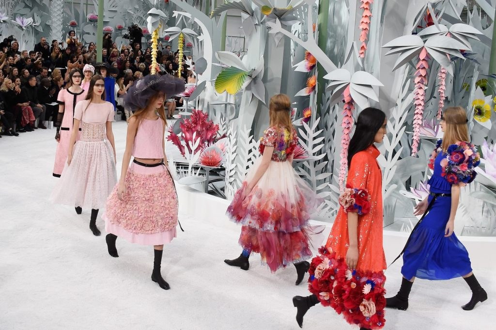 Models on the final walk (Photo by Pascal Le Segretain/Getty Images)