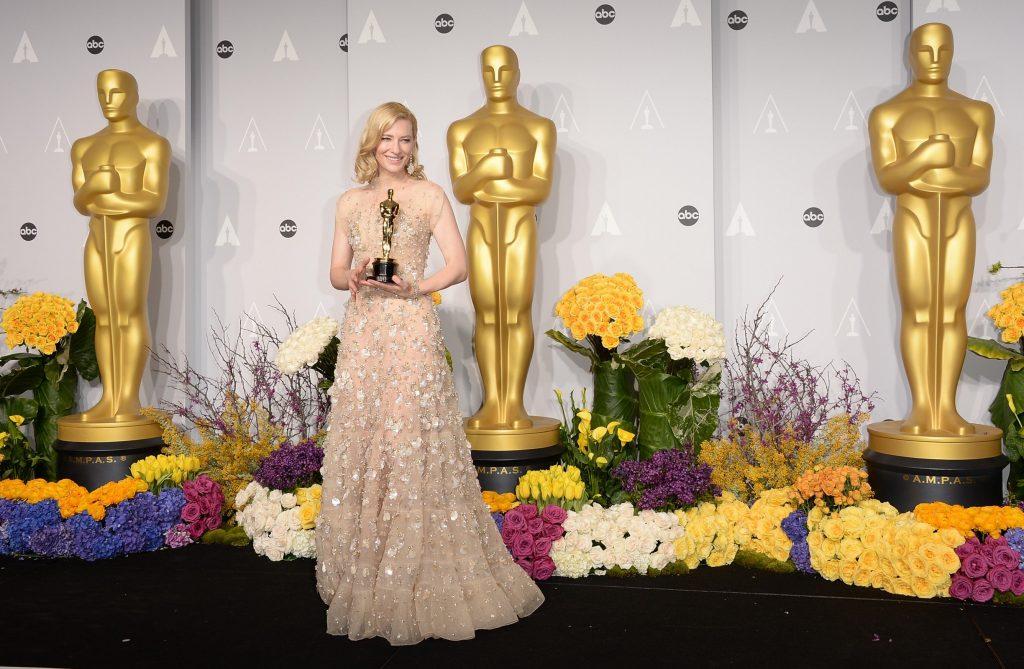 Cate Blanchett, winner of Best Actress for Blue Jasmine. Image Courtesy of Jason Merritt at Getty Images