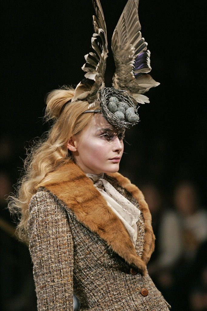 Bird's nest headdress with Swarovski gemstones, photogrpahed by Courtesy Swarovski Archive