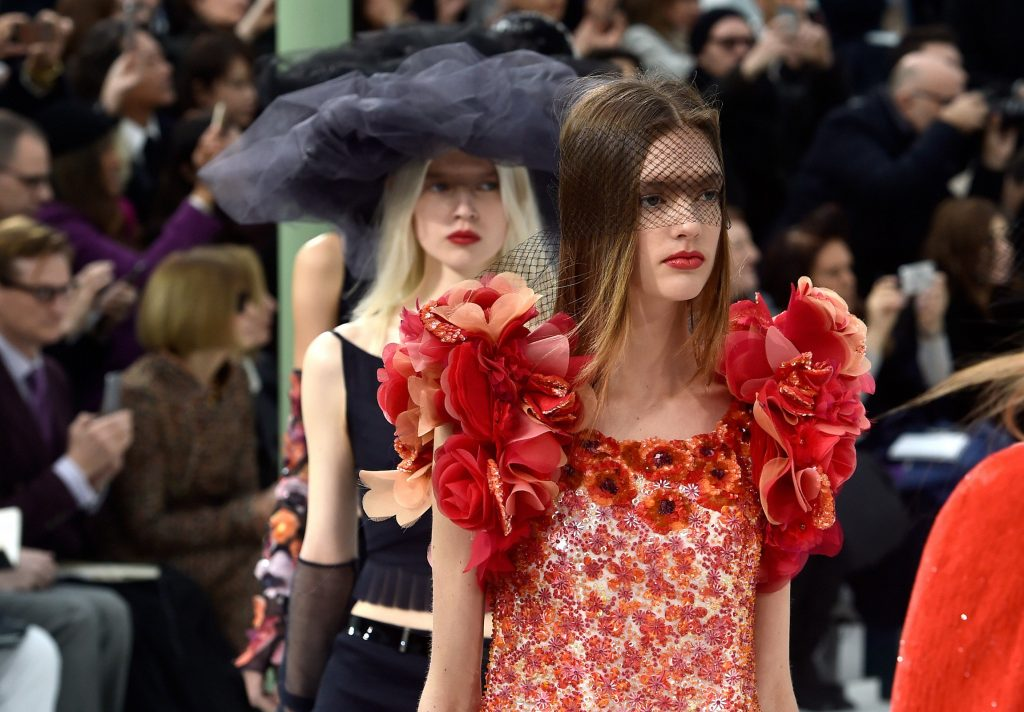 Headwear was de riguer at Chanel (Photo by Pascal Le Segretain/Getty Images)