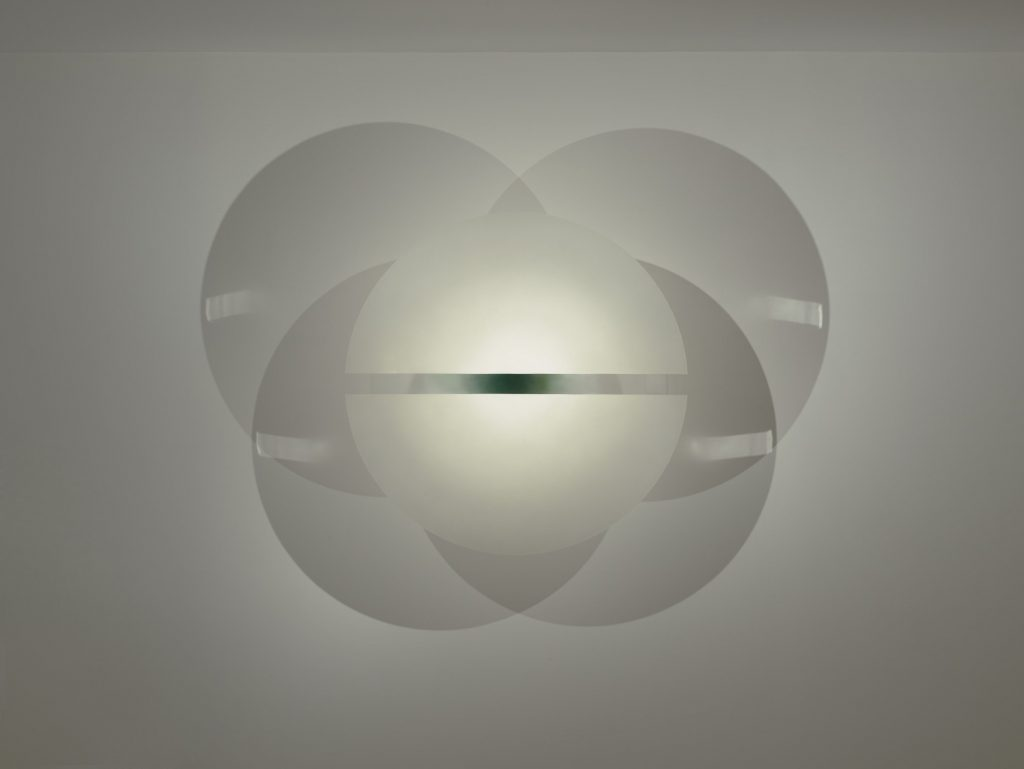 Seeing Through Light. Robert Irwin Untitled, 1967–68 Acrylic lacquer on formed acrylic plastic, image courtesy of the Guggenheim Abu Dhabi