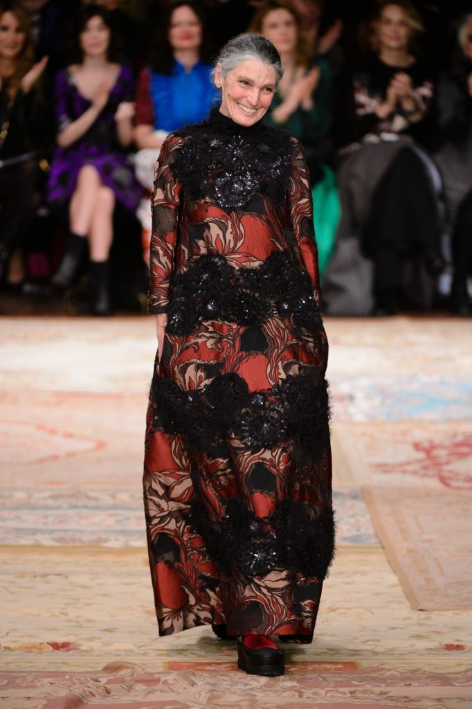 Benedetta Barzini walks for Antonio Marras AW15.