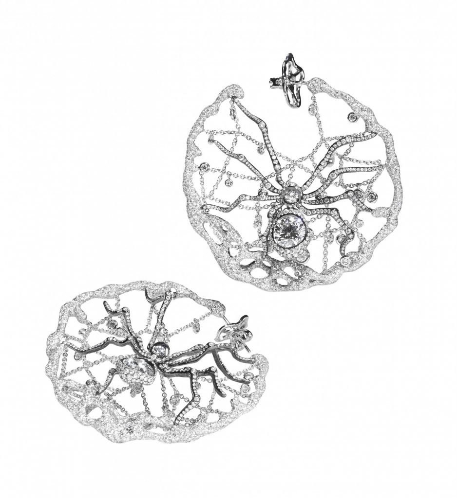 Spider earrings, Forest Collection.