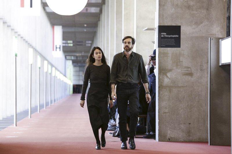 Christophe Lemaire with design partner, Sarah-Linh Tran