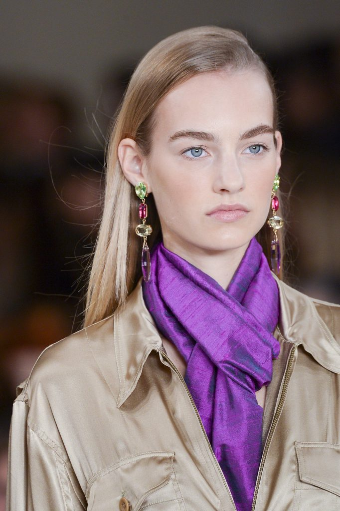 The decadence of a drop earring at Ralph Lauren Spring/Summer 2015