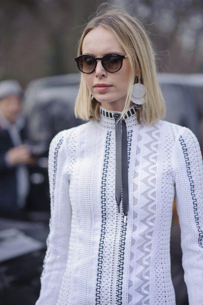 Louis Vuitton's futuristic enamel earrings