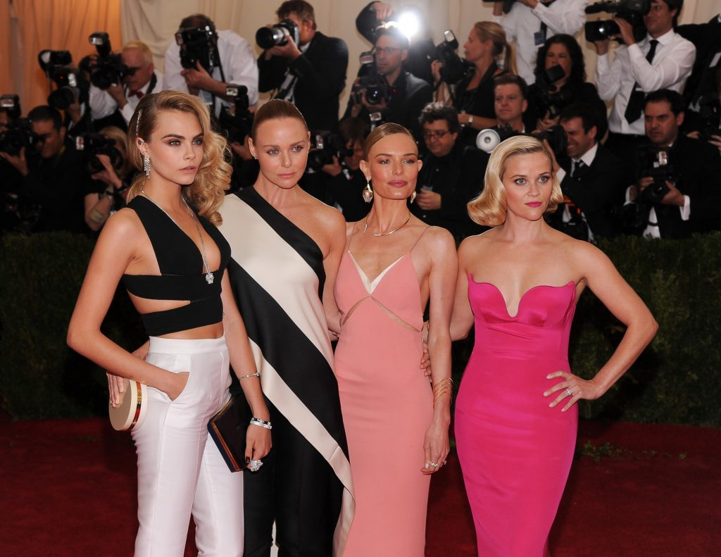 Cara Delevingne, Stella McCartney, Kate Bosworth and Reese Witherspoon at the Met Gala, 2014. Photography by Christopher Smith/AdMedia/Corbis.