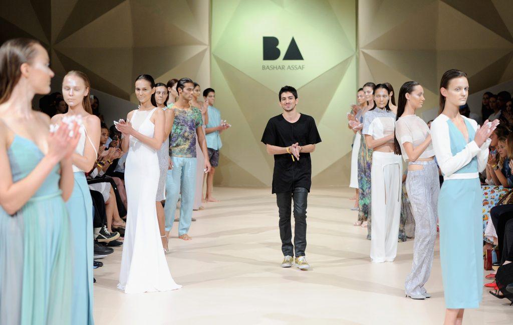 Bashar Assaf closing his 2014 show on the Fashion Forward runway