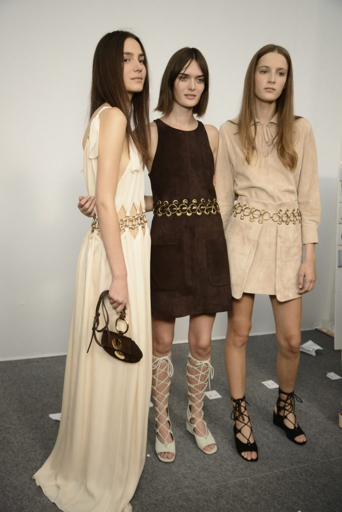 Backstage at Chloe SS15, photo courtesy of GoRunway.