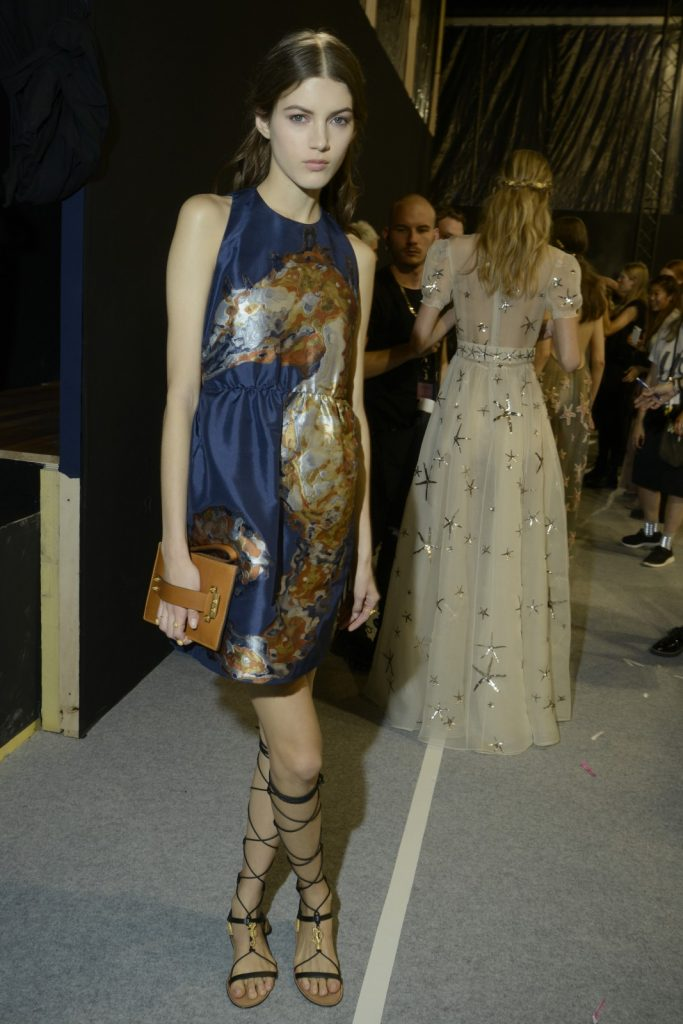 Backstage at Valentino SS15, photo courtesy of GoRunway.