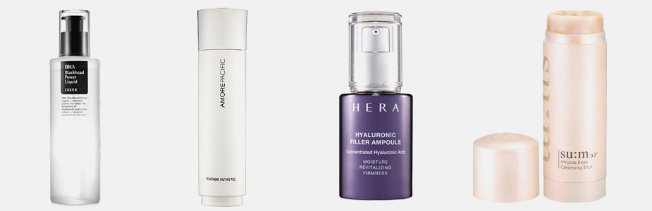 - COSRX Blackhead Power Liquid | Amore Pacific Treatment Enzyme Peel | HERA Hyaluronic Filler Ampoule | su:m37 Miracle Rose Cleansing Stick -