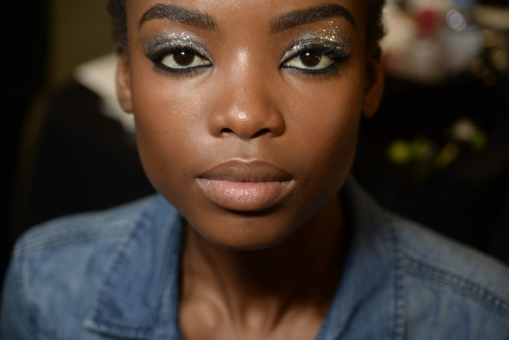 Backstage beauty from the House of Holland show, image courtesy of GoRunway