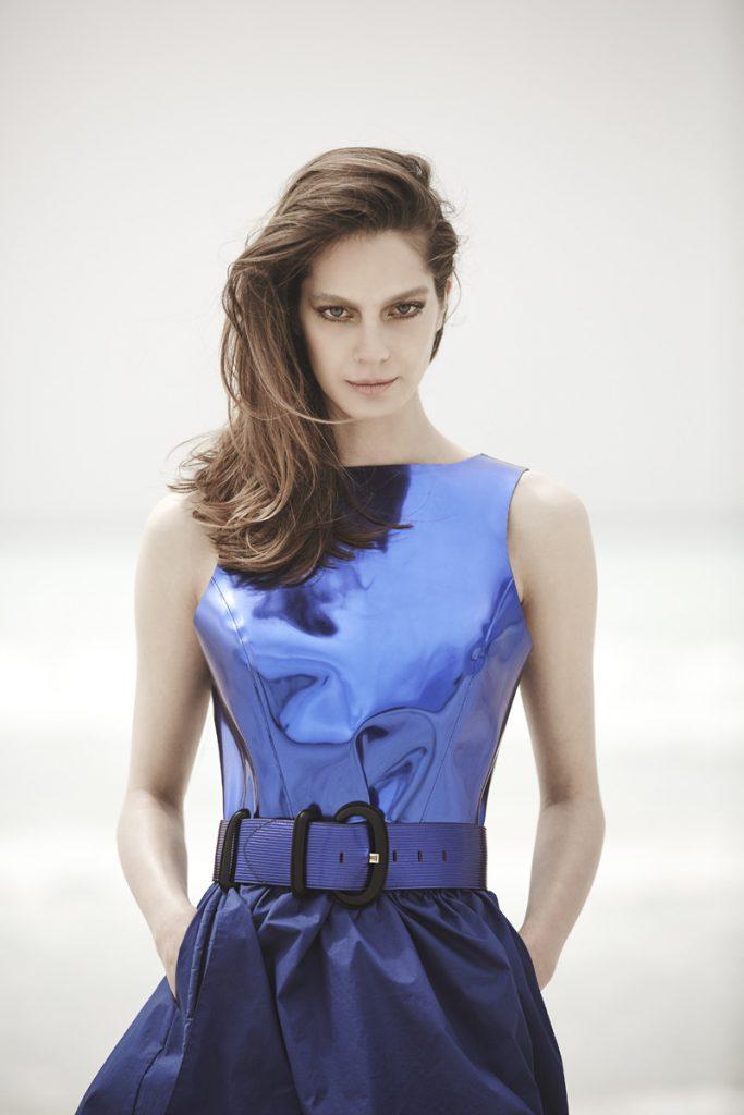 Dress and belt, Emporio Armani