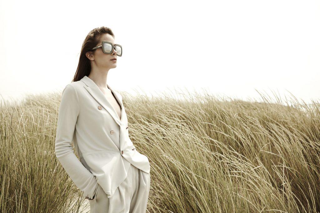 Jacket and trousers, Emporio Armani | Sunglasses, Dolce & Gabbana