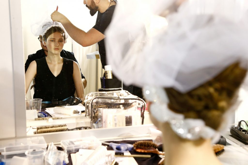 - Backstage at Georges Hobeika -