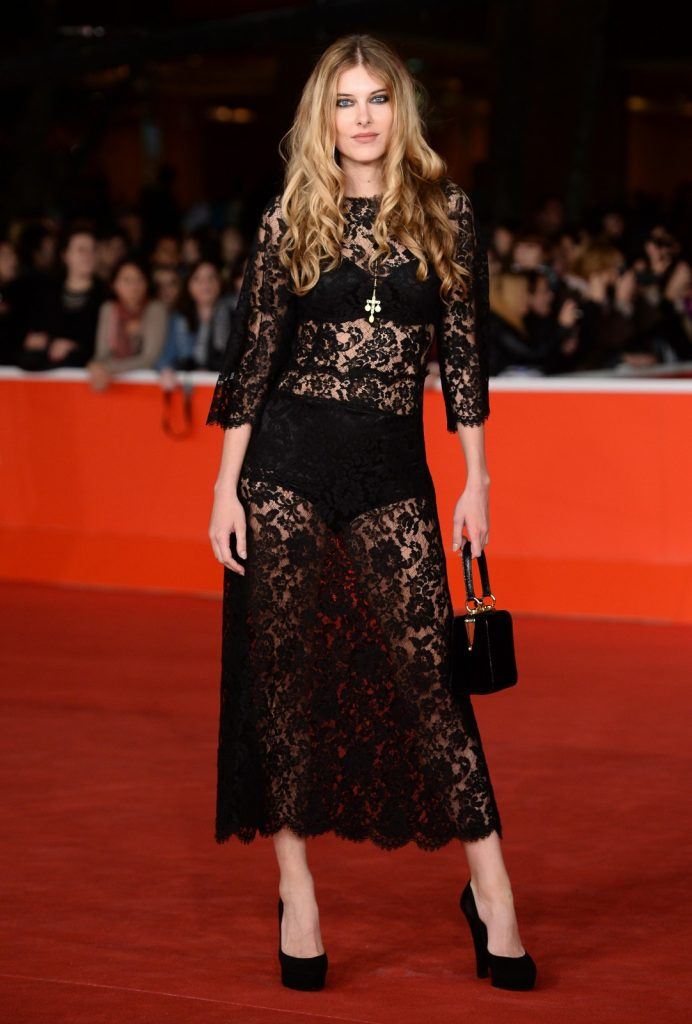 In Dolce & Gabbana at the Rome Film Festival. Getty Images.