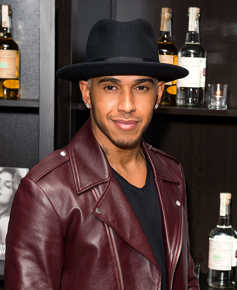 Lewis Hamilton's diamond ear studs have become his signature style