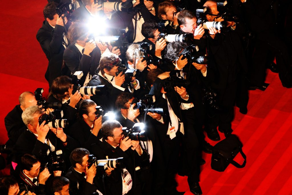 Photographers jostle for position on the red carpet at Cannes Film Festival