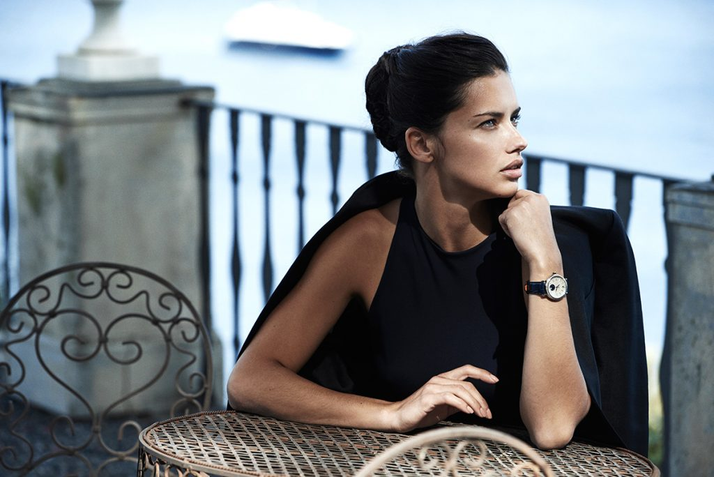 Adriana Lima photographed by Peter Lindbergh for IWC