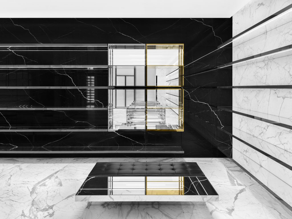 Hedi Slimane's conceptual design for Saint Laurent store, Mall Of Emirates