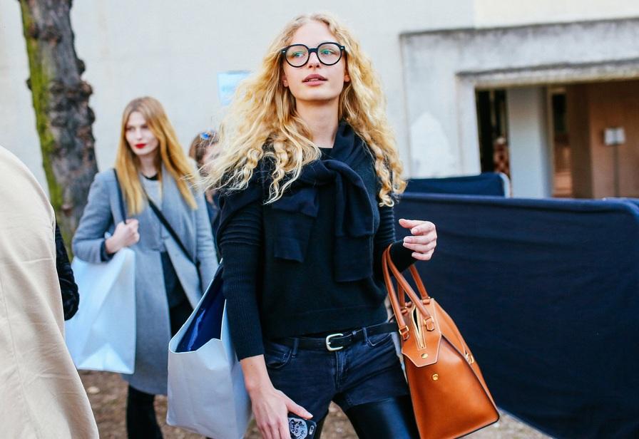 Frederikke Sofie in Milan during Fashion Week spring/summer 2016