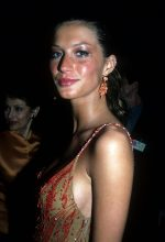 One of Gisele's first ever appearances at the Costume Institute gala exhibition in 1990 in an eye-catching sequin dress