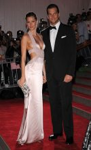 In a sultry pink plunging Versace Fall 2008 gown, Gisele made her first ever red-carpet appearance at the Met Gala with her now husband, Tom Brady.