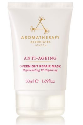 Aromatherapy Associates' Overnight Repair Mask is infused with anti-aging apricot kernel oil as well as rice germ and millet seed to protect the skin against the damaging effects of pollution.