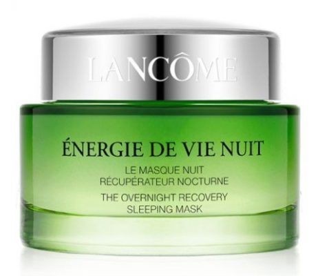The Énergie De Vie Sleeping Mask by Lancome melts into skin overnight to plump and smooth.