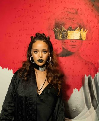 Rihanna has long mastered the vampy lip and is pictured here with a matte, jet-black pout. Bold enough to try a Goth black hue? Apply with a lip brush. Dark shades can get messy quickly so try to be precise.