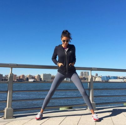 Kelly Gale goes running in New York.