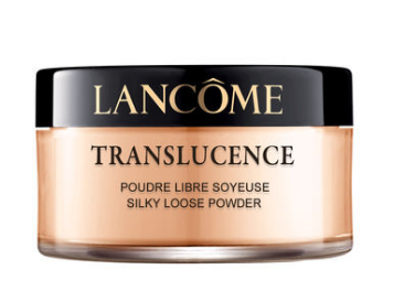Lancôme Translucence Loose Powder Foundation Her illusion of perfect skin can be attributed to the innovative power of Lancôme's matte finish powder, which leaves the skin with a translucent finish while absorbing oil and smoothening skin. The result: skin that is satiny to the touch, never chalky and sumptuously glowing.