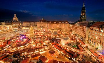 Dresden, Germany. The Striezelmarkt in Dresden is one of Germany's oldest documented holiday markets. Wander through the idyllic cobbled streets and snack on sugar-dusted stollen cake for a truly memorable festive experience. Until 24th December 2016