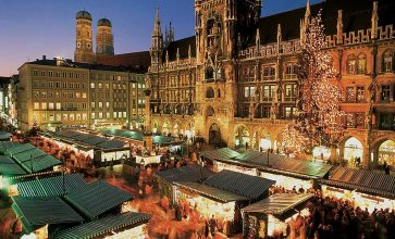 Munich, Germany. Highbrow art, Mediterranean-style street cafes and Lederhosen await! Munich boasts a traditional and conservative festive market where you're truly spoilt for choice. A stunning snow-smothered backdrop is almost guaranteed. Until 24th December 2016