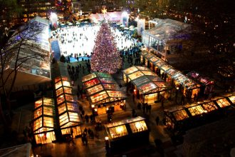 New York, America. Brimming with unique holiday items from artisan gifts to local crafts, Bryant Park is a shopper's paradise during this time of year. Drink scrumptious eggnog and watch the magical Rockefeller Center tree light up. Until 3rd January 2017