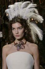 The Statement Hair Accessory - Dior: Maria Grazia Chiuri made a case for feathered adornments with her fantasy-focused show that proposed ostrich feather headbands. While Dior's became a focal point of the show we anticipate smaller plumes making their way into our hair accessories for the season ahead