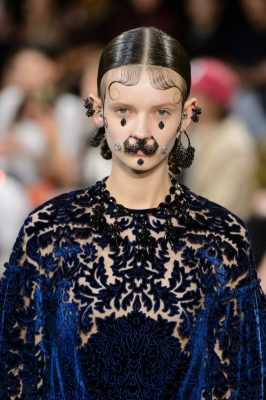 Facial Jewellery: A lesson in outlandish adornment Tisci was known for sending his models down the runway with obscure and ornate additions that referenced everything from South American culture to the Victorian period  Givenchy Autumn/Winter16