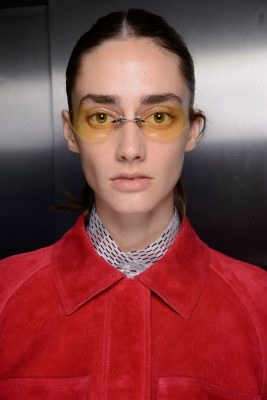 If you can't commit to a shadow, follow Courreges's lead and opt for yellow tinted shades for a vintage look
