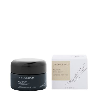 The Cleanser: Kahina Giving Beauty, Lip & Face Balm  Best For: Daily use   Blue tansy is paired with high concentrations of Vitamin E and the fatty acids in argan oil to rebalance moisture and eliminate toxins. Organic willow bark and papaya extracts remove dead skin cells, leaving behind brighter skin with an improved tone.