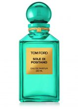 Tom Ford Sole Di Positano. The fragrance borrows from the highly acclaimed Private Blend Neroli Portofino Collection and uses citrus as its integral note. Chifo leaf, Lilly of the Valley (also the flower of May) mandarin and bitter orange come together and smother you in a vibrant vision of the Mediterranean. Perfect for lounging on a private island or revisiting your favourite wellness retreat.